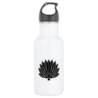 Feather round fan 532 ml water bottle