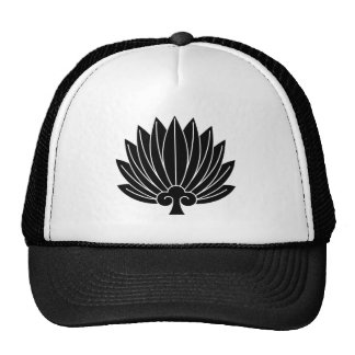 Feather round fan cap