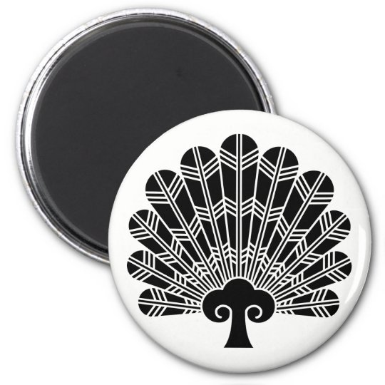 Feather round fan of 鷹 6 cm round