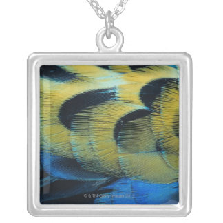 Feather surface 4 silver plated necklace