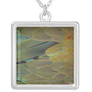 Feather surface silver plated necklace