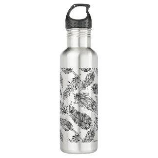 Feather Swirl Doodle 710 Ml Water Bottle