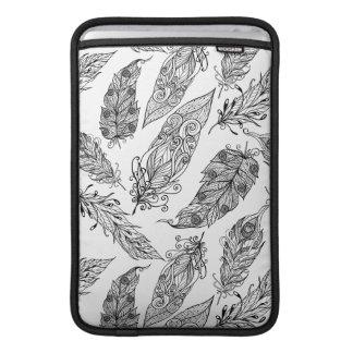Feather Swirl Doodle MacBook Sleeve