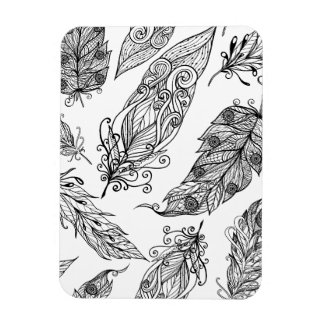Feather Swirl Doodle Magnet