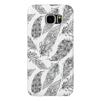 Feather Swirl Doodle Samsung Galaxy S6 Cases