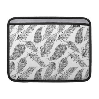 Feather Swirl Doodle Sleeve For MacBook Air