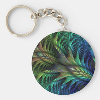 feather tail keychain