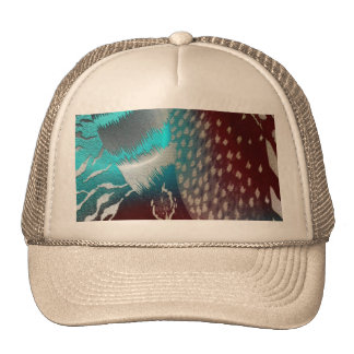 Feather Texture Template Mesh Hat