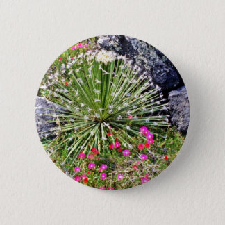 Feather-tipped Succulent 6 Cm Round Badge