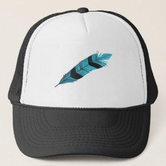 Feather Trucker Hat