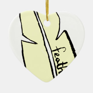 feather yellow christmas ornament