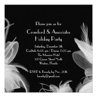 Feathered 1920 s Holiday Party Invitation
