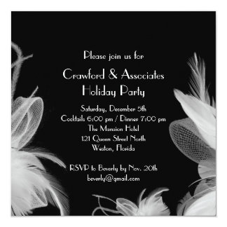 Feathered 1920's Holiday Party Invitation