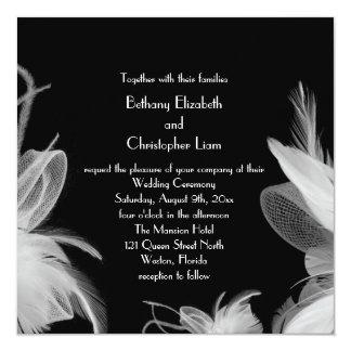 Feathered 1920's Wedding Invitation 2