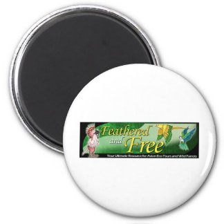 Feathered and Free Logo 6 Cm Round Magnet