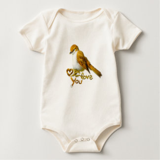 Feathered Ball Baby Bodysuit