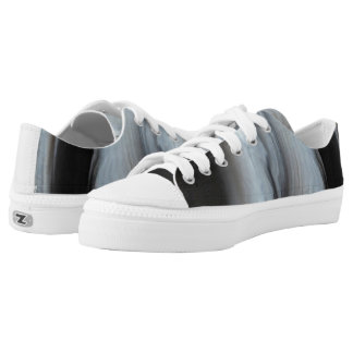 Feathered Black Agate cool natural stone Low Tops