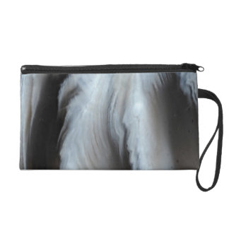 Feathered Black Agate cool natural stone Wristlet