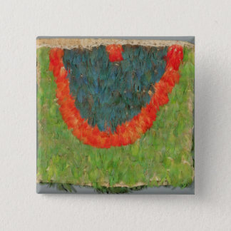 Feathered cape 15 cm square badge