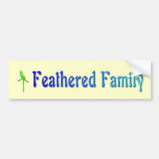 Feathered Family Bumper Sticker