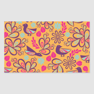 Feathered Friends Rectangular Sticker