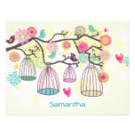 Feathered Friends Spring Flat Notecard Custom Invites