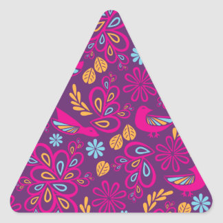Feathered Friends Triangle Sticker