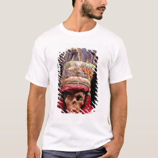 Feathered headdress on a skull, from Peru T-Shirt