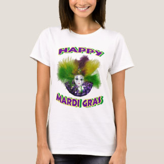 Feathered Mardi Gras Mask T-Shirt