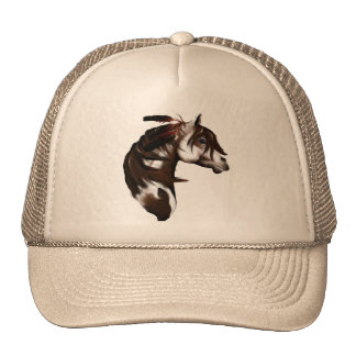Feathered Paint Horse Hat