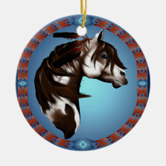 Feathered Paint Horse-Ornaments Christmas Ornament