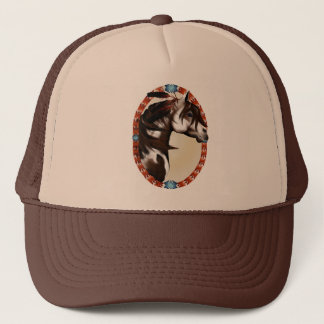 Feathered Paint Horse Oval Hat