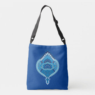 Feathered Paisley - Blueish Crossbody Bag