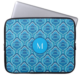 Feathered Paisley - Blueish Laptop Sleeves