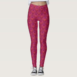 Feathered Paisley - Pinkoinko1 Leggings