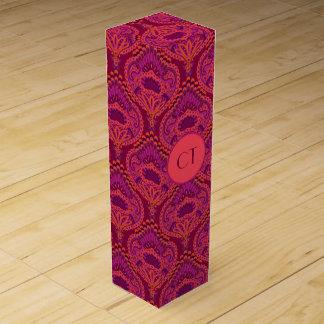 Feathered Paisley - Pinkoinko Wine Gift Boxes