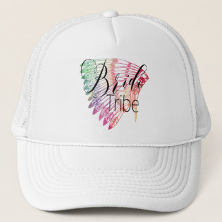 FEATHERED RAINBOW TRIBAL BRIDE tTRIBE Trucker Hat
