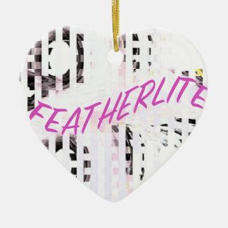 FEATHERLITE CERAMIC HEART DECORATION