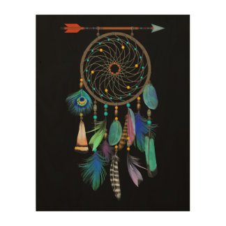 Feathers and Arrow | Dream Catcher | You Customize Wood Wall Decor
