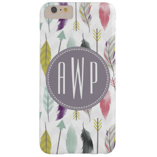 Feathers and Arrows Monogram Barely There iPhone 6 Plus Case