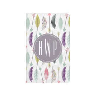 Feathers and Arrows Monogram Journals