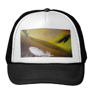 feathers hats