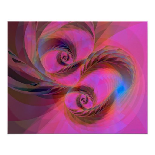 Feathers in the Wind Fractal Poster