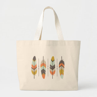 Feathers Large Tote Bag