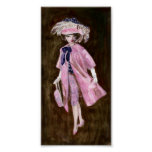 Feathers, Mauvy Silk & Suede: Matisse Doll Fashion Poster