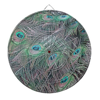 feathers of a peacock. dartboard