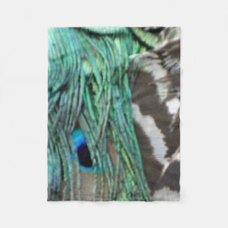 Feathers of a Wild peacock Fleece Blanket