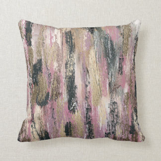 Feathers Water Color Painting Cotton Throw Pillow