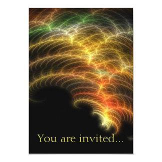 "Feathery 1 5"" x 7"" invitation card"
