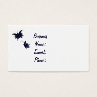 feathery butterflies business card